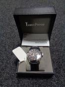 A gentleman's TimePiece wristwatch, boxed.