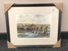 After Tom MacDonald : Hexham on Tyne, reproduction in colours, signed in pencil, 21 cm by 30 cm,