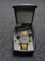 A Christin Lars gold plated gentleman's wristwatch, boxed.