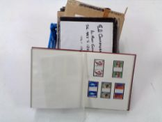 Three albums of stamps - GB Commemoratives, mint gutter pairs 1924 - 1982.