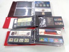 Three albums of GB presentation packs 1977 - 1990.
