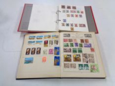 Two albums of stamps - World stamps and India.