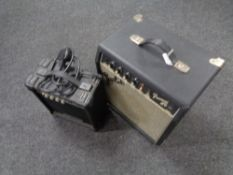 A Fender Frontman guitar amplifier and an Elevation amp.