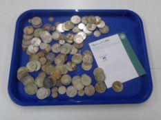 A collection of pre 1947 silver coins including half crowns, shillings,