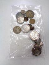 A Napoleon III silver 5 Franc coin,