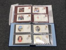 Two albums of stamps - Commemorative issues for The Prince and Princess of Wales & The marriage of