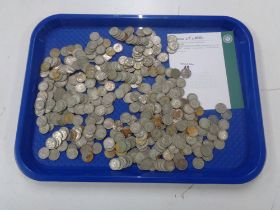 Approximately 370 pre 1947 silver six pences, 1131g.