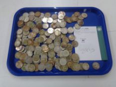 Approximately 199 two shilling pre 1947 silver coins, 2181g.