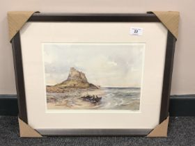 After Tom MacDonald : Lindisfarne Castle, reproduction in colours, signed in pencil, 21 cm by 30 cm,