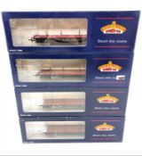Bachmann : 33-854A 30 Ton Bogie Bolster Wagon BR S&T Gulf Red, boxed.