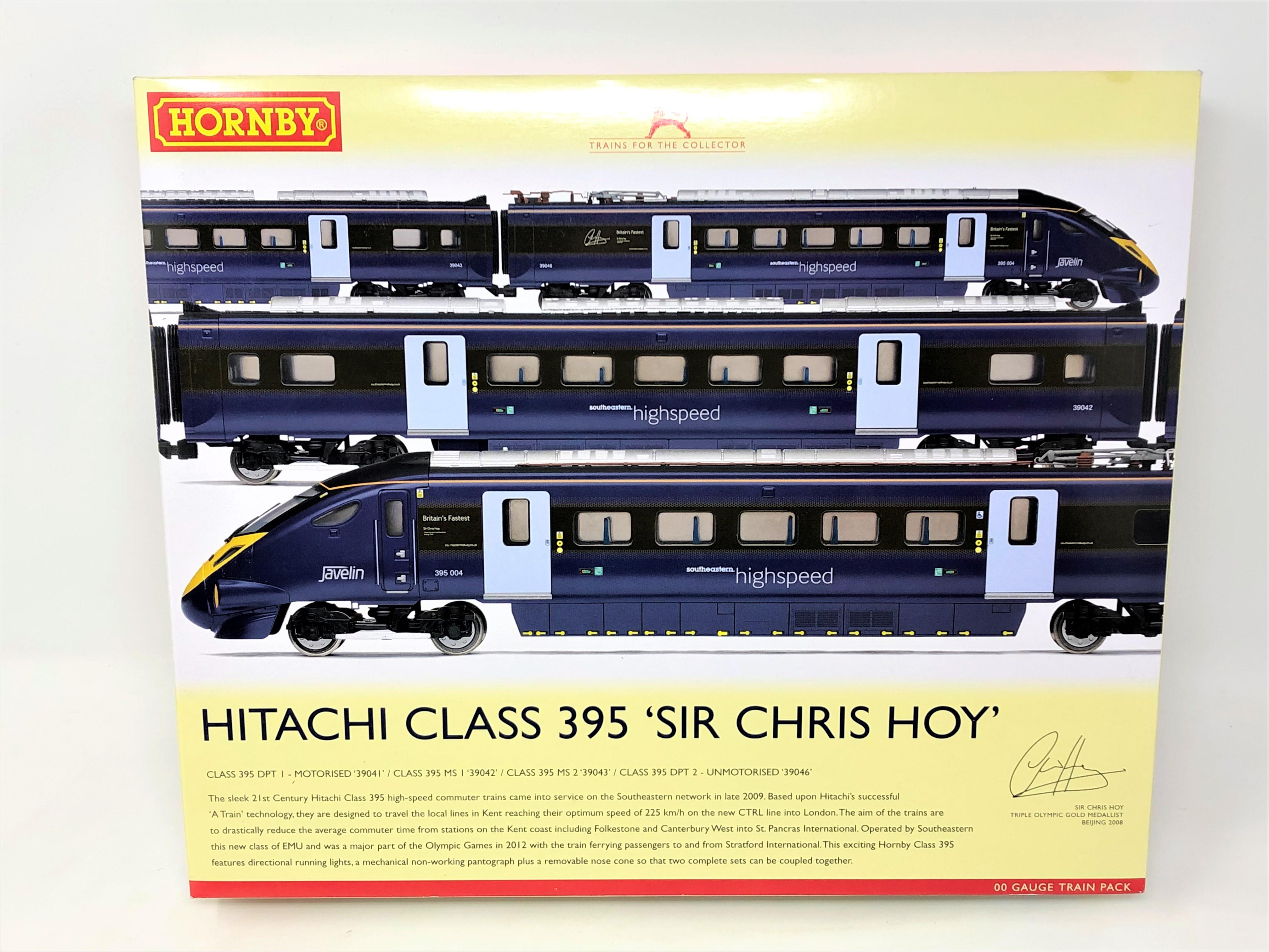 Hornby : R3185 Hitachi Class 395 'Sir Chris Hoy' Train Pack, boxed.