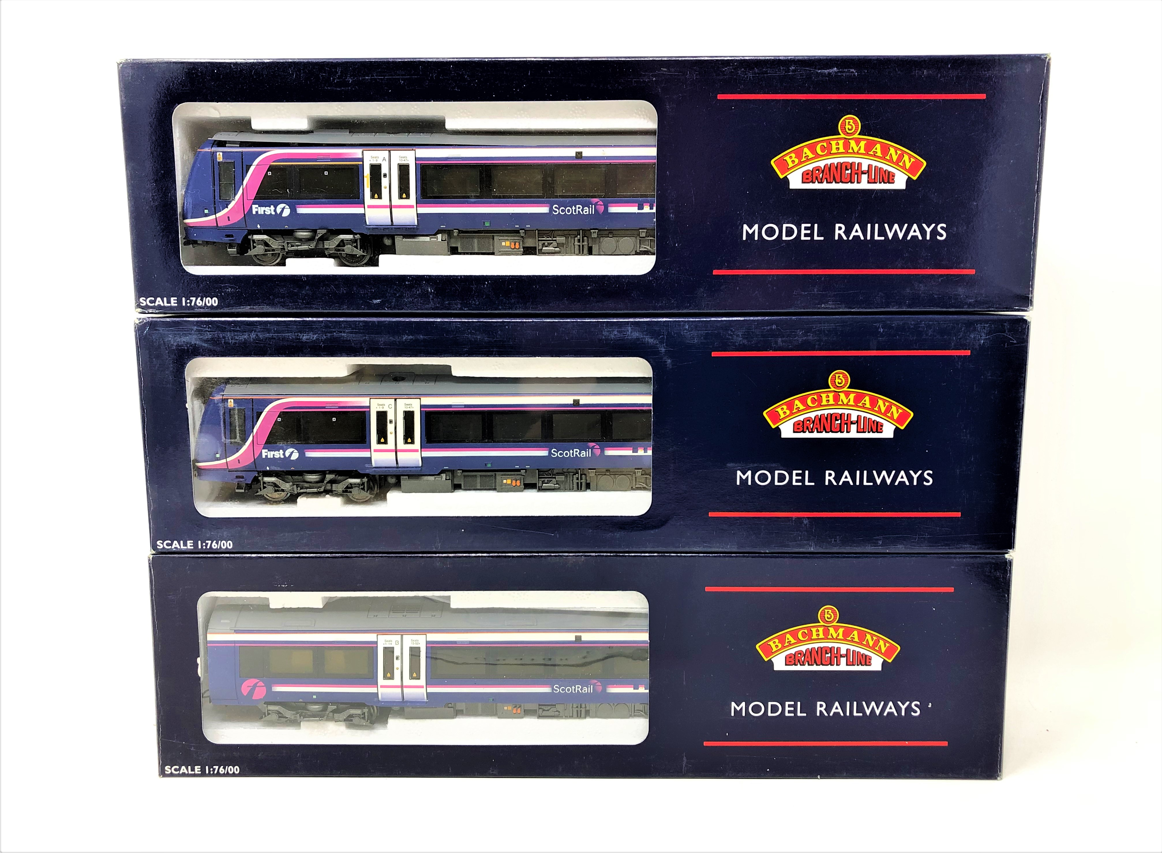 Bachmann : 32-463 170/4 Turbostar 3 Car DMU 'Scotrail' First Group, boxed. - Image 2 of 2