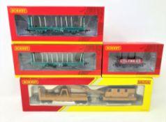 Hornby : R6369 Breakdown Crane, R6696 4 Plank Wagon Coltness Co.