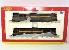 Hornby : R2411 EWS CO CO Class 58 Diesel Electric Locomotive Set, boxed.