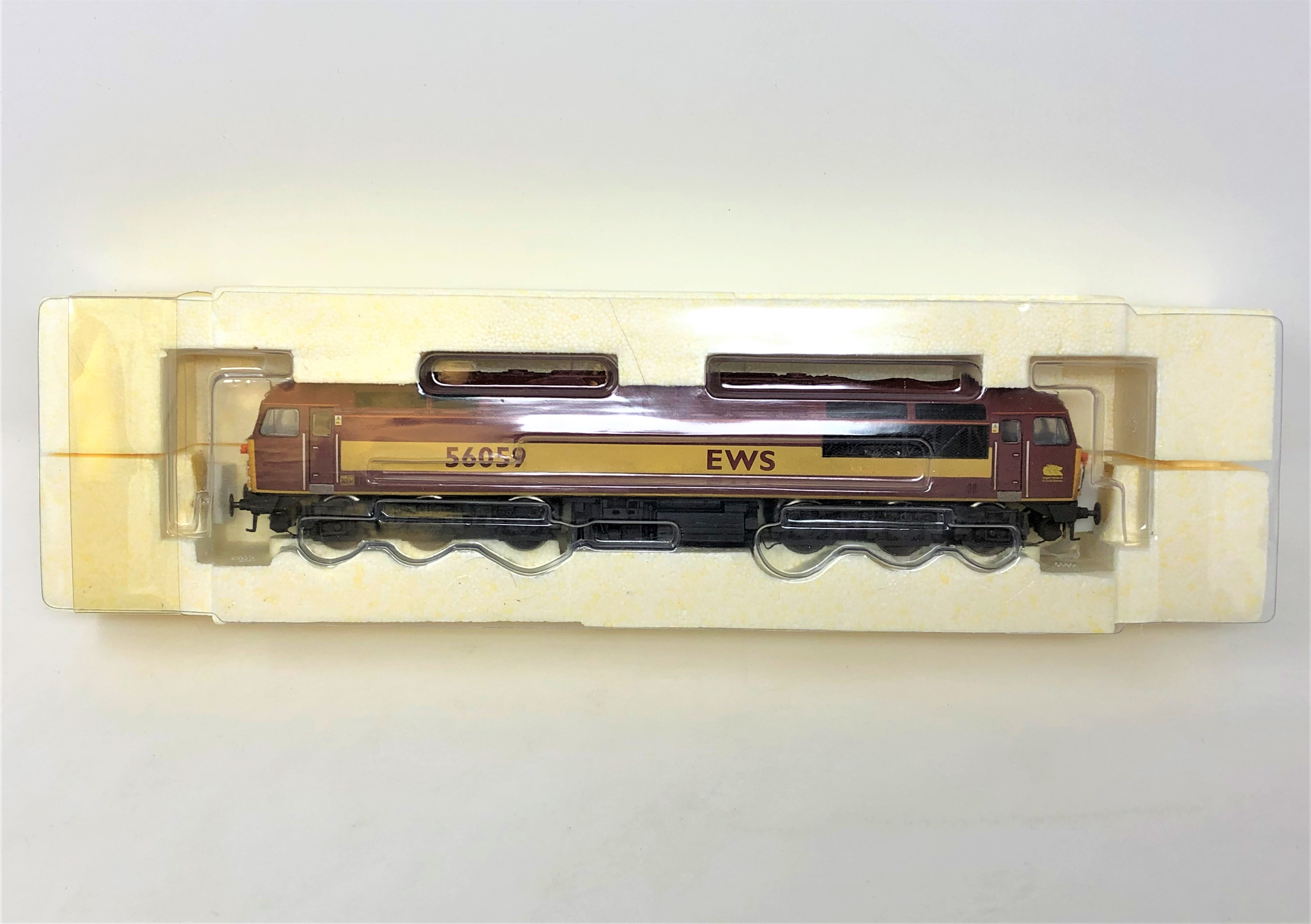 Hornby : R2648 EWS CO-CO Diesel Electric Class 56 '56059', boxed. - Image 2 of 2