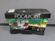 A Focalpoint contemporary flueless gas fire (boxed as new)