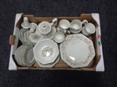 A box of Johnson Brothers Eternal Beau table ware