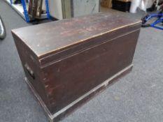 An antique pine box