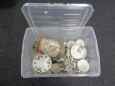 Approximately 80 pieces of Wedgwood and Colclough ivy design china,