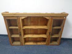 An antique pine dresser top