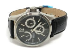 A Gentleman's Reserver automatic wrist watch on black leather strap