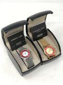 Two gent's Christin Lars quartz wristwatches, boxed.