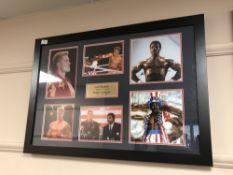 A sporting memorabilia montage : Carl Weathers 'Apollo Creed' and Dolph Lundgren 'Ivan Drago',