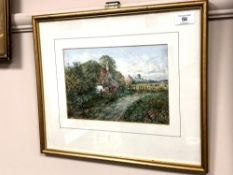 Robert Ventress (1846 - 1925) : Near Ponteland, watercolour, signed, 17 cm x 25 cm, framed.