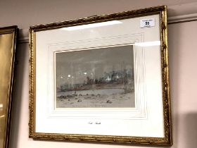 ** Hancock : North Shields, pencil with watercolour, with pencil inscription, 17 cm x 24 cm, framed.