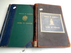Two antique leather bound ledgers, Borough of Mansfield,