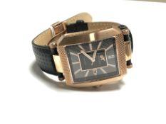 A Gentleman's Klaus Kobec wrist watch on black leather strap