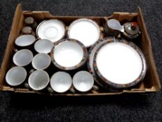32 pieces of Denby Marrakesh tea and dinner ware (four person setting)
