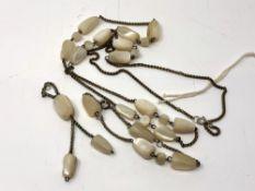 A costume necklace and bracelet set