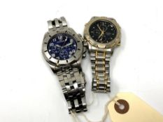 Two Gent's watches by Accurist and Rotary (2) CONDITION REPORT: Currently non