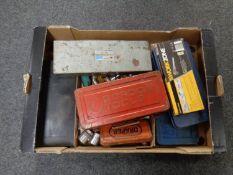 A box of a quantity of socket sets