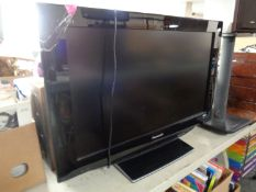 A Panasonic 32'' LCD TV with remote