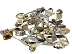 A quantity of commemorative spoons including silver examples (approx.
