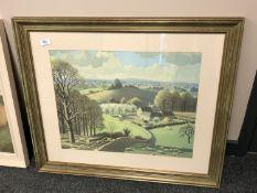 After Ronald Lampitt : Spring time, colour print, 54 x 42 cm,