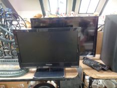 A Panasonic Viera 19'' LCD TV together with a further Panasonic 24'' LCD TV,