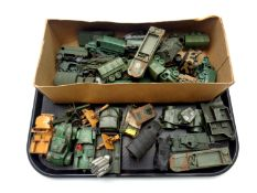 A tray of a quantity of 20th century plastic and die cast military vehicles to include Lonestar