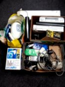 A quantity of miscellaneous electricals to include massage machine, DVD VCR, DVD players,