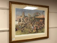 After Terrance Cuneo : The Mice Fayre, colour print, signed in pencil,
