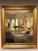 After Davis Rickter : The Drawing Room, colour print, 64 x 77 cm,