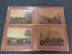 Four gilt framed colour lithographic prints,