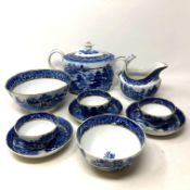 A good Chinese Export style ten piece tea service, circa 1790, probably made by John Rose.