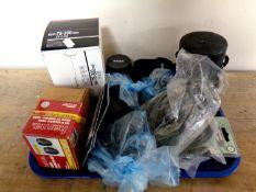 A tray of Sony digital camera, camera lenses,