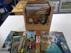 A box of vinyl LP's to include The Seekers, Johnny Cash,