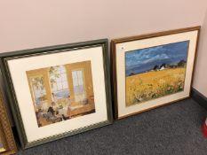 After James Durden : Summer in Cumberland, colour print, 39 x 39 cm,