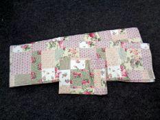 A floral quilt