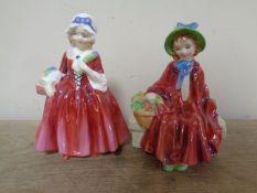 Two Royal Doulton figures Livinia HN 1955 and Linda HN 2106